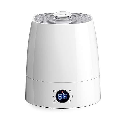Luftbefeuchter 5,5L Ultraschall Befeuchter für Wohnzimmer Schlafzimmer Kinderzimmer Raumbefeuchtung mit Nchtlicht Exakter Feuchtigkeitsmessung 360° Drehbarer Düse Niedrigwasserschutz