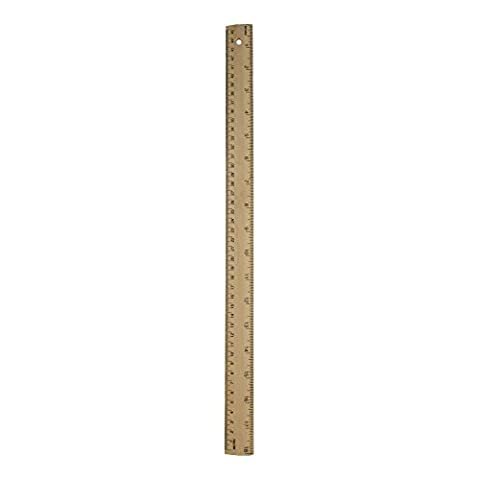 Wood Ruler With Metal Edge 18 Inch