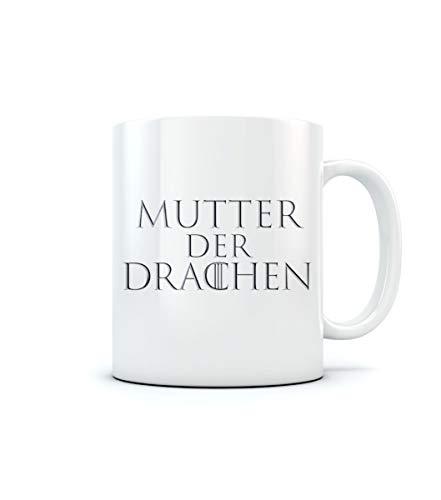 Serien Fan Tassen Dragon - Mutter der Drachen Kaffeetasse Tee Tasse Becher 11 Oz. Weiß