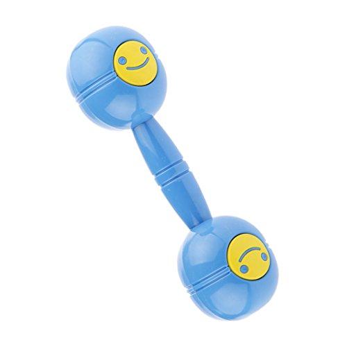 Kunststoff Lächelndes Gesicht Hantel Hund Spielzeug Kinder Mit Ton Spielzeug Spielen - Blau