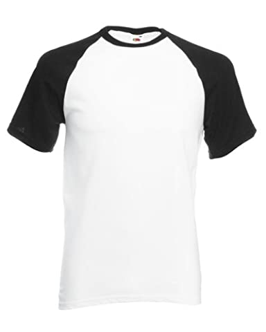 Fruit Of The Loom Mens Short Sleeve Baseball T-Shirt (XL)