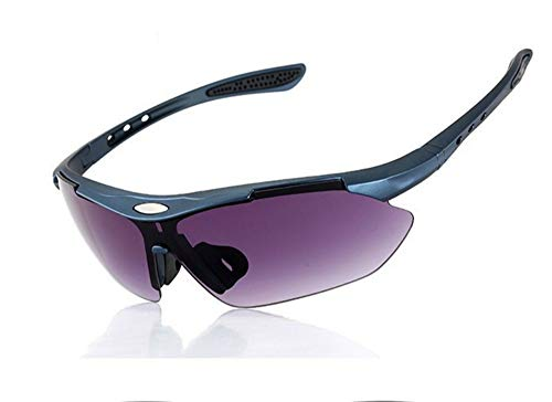 erhuo Radfahren Laufen Outdoor-Sport Fahrrad Unisex Winddicht Myopie Sonnenbrille polarisierte Sportbrille, lila