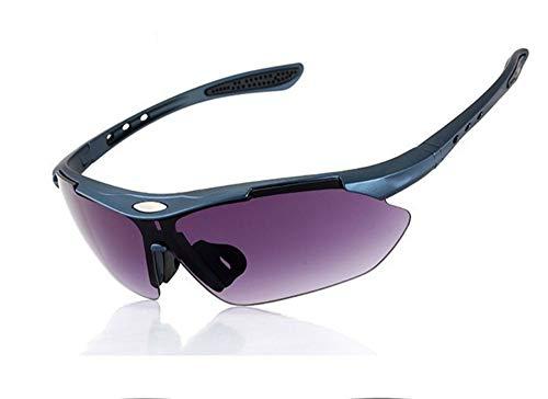 en Outdoor-Sport Fahrrad Unisex Winddicht Myopie Sonnenbrille polarisierte Sportbrille, lila ()