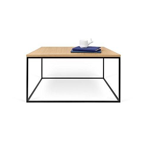 Paris Prix - Temahome - Table Basse Gleam 75cm Chêne & Métal Noir