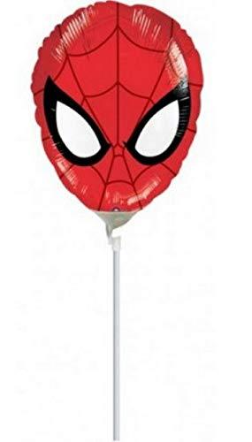 PICCOLI MONELLI Globo cumpleaños Spiderman araña Hombre 1 pc a Helio Gran Cara 25cm