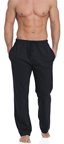 Merry Style Pantalon Bas de Pyjama Vêtement 100% Coton Homme TPP-002(Noir, XXXL) Timone