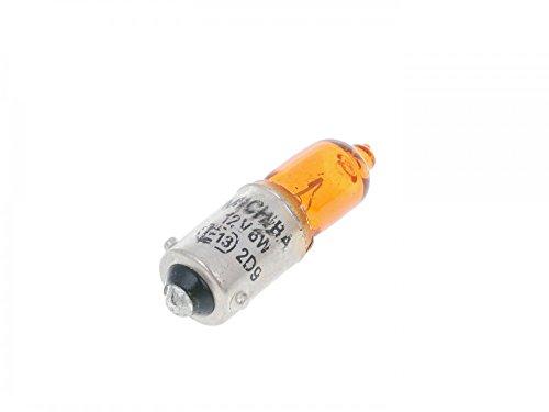 Bulb 12V 6W H6W BAX9s orange