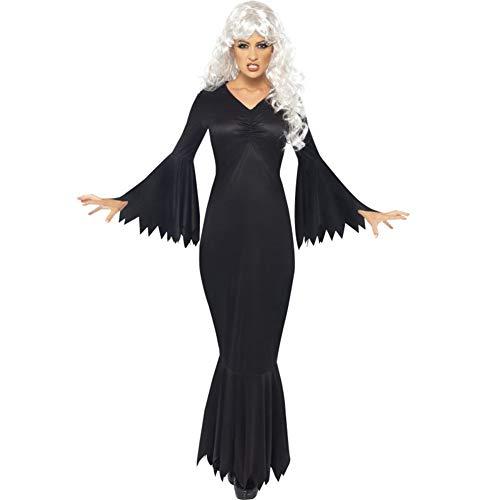 Newbestyle Halloween Kostüm Damen Cosplay Overall Unheimlich Skelett Bodysuit Bodycon Kleid Schwarz-1 X-Small