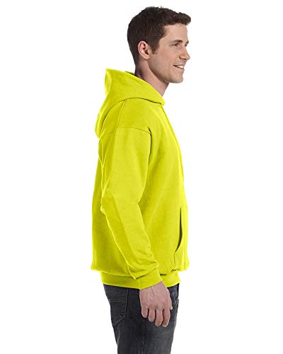 Hanes by ComfortBlend EcoSmart Pullover Hoodie Sweatshirt_Safety Green_L