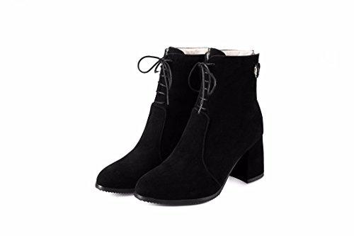 RFF-Women's Shoes les Bottes D'Hiver Bottes et Chaussures à Talons Hauts Taille Mat black