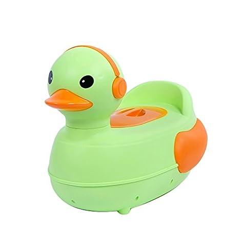 Cartoon Baby Fun Pot de formation de canard ( Color : Vert )