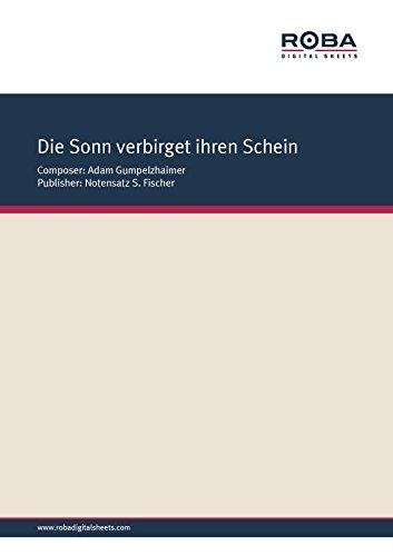 Die Sonn verbirget ihren Schein: Sheet Music, lyrics from the Musae Sionae 1610