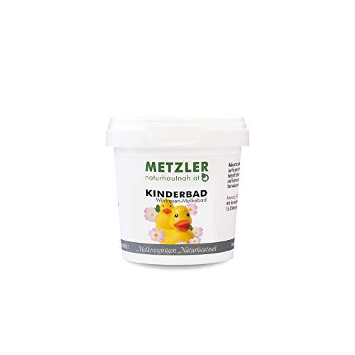 METZLER Molke Kinderbad mit Wildrose und Lindenblüte - hochwertiger Badezusatz zur sanften Pflege von Baby- und Kinderhaut, ideal zur täglichen Anwendung, Premium Qualität, 100 ml
