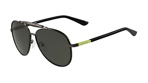 Etro occhiali da sole et103sl black lime/dark grey green uomo