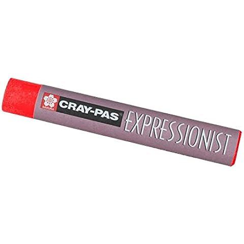 Cray-Pas expresionista en colores pastel del escarlata
