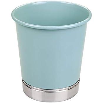 bagno argento Di forma tonda ufficio mDesign Set da 2 Cestino spazzatura in acciaio Perfetti sia come cestino gettacarte che per la raccolta rifiuti per cucina camera