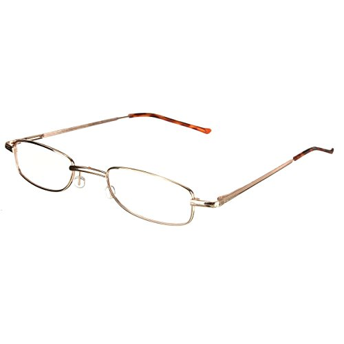 SODIAL(R) Lesebrille Nerd Brille Lesehilfe Sehhilfe mit Brillenetui in Staerke +1.5