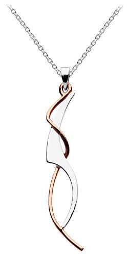 Dew 90W3 Halskette mit Anhänger im Jugendstil, Sterling-Silber925, 46cm