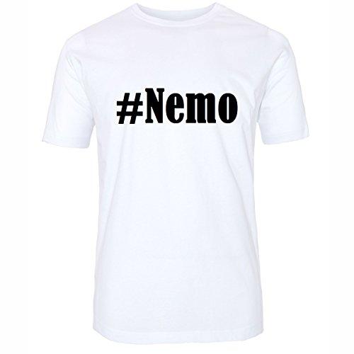 T-Shirt #Nemo Hashtag Raute für Damen Herren und Kinder ... in den Farben Schwarz und Weiss Weiß