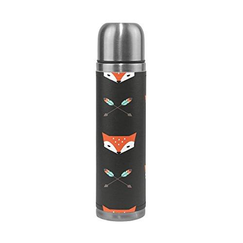 Alaza Fox und Pfeile Edelstahl Wasser Flasche auslaufsicher doppelwandige Vakuum Isolierte Reise Kaffee Tasse für heiße und kalte Getränke oz (Wasser Flasche Pfeil)