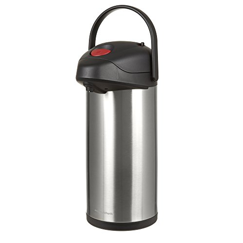 Morphy Richards 970392 Airpot, Equip Range, Hot Water Dispenser, Thermal Container Carafe with Pump Action, Stainless Steel, Silver, 5 Litre