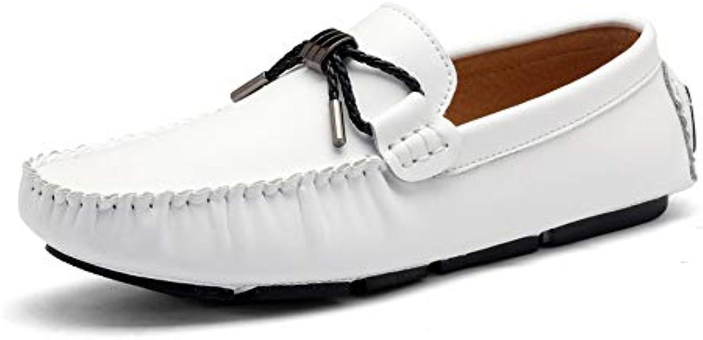 Sunny&Baby Mocasines de los Hombres Confortable Driving Loafer Flat Heel Slip de Cuero Genuino en los Zapatos...