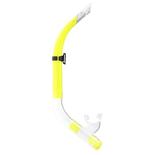 ryase (TM) nuovo standard Scuba Diving Snorkel respirazione tubo nuoto Diving Mare Snorkeling attrezzature semi dry Nero/Giallo/Verde/Blu, Yellow