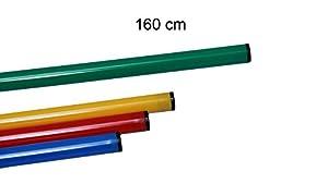 agility sport pour chiens - jalon, longueur 160 cm, Ø 25 mm, vert - 1x 160g