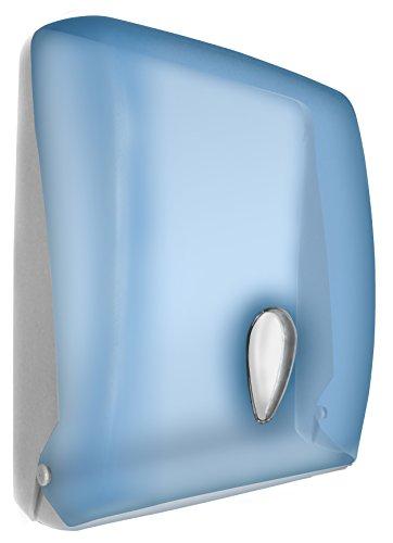 Nofer 04020.T Classic Distributeur de Serviettes en Papier ABS Bleu Transparent 13,5 x 28 x 37 cm