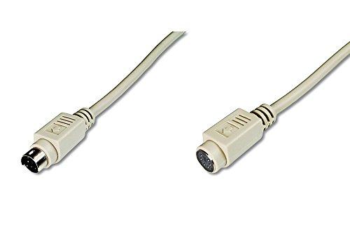 DIGITUS PS/2 Anschluss-Kabel - 5.0m Verlängerungs-Kabel - Mini DIN 6-Pin Stecker zu Buchse - Beige - 6 Pin Verlängerung