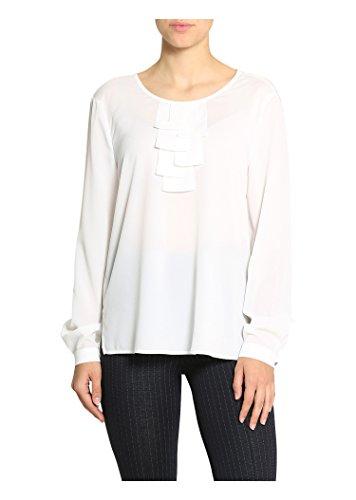 BASLER Bluse mit geschlitzten Seiten Off-Weiß