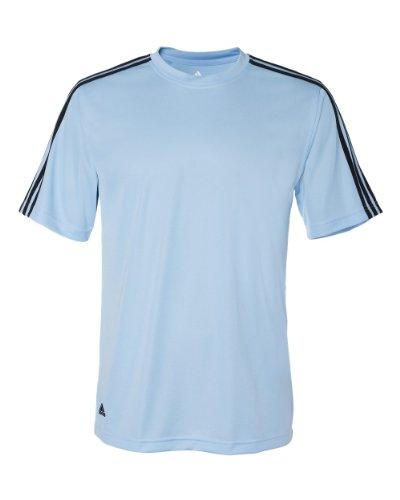 Golf Climalite (adidas Golf Mens Climalite 3-Stripes T-Shirt (A72) -ARGNTNA BL -M)