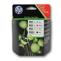 Badgerinks - Cartuchos de tinta para impresora HP Officejet Pro 8600 (4 unidades, cián, amarillo, magenta y negro)