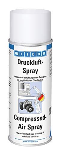 WEICON Druckluftspray, Reiniger Spray für Computer Laptop Gehäuse Lüfter , 400ml