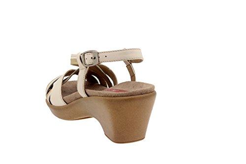 Chaussure femme confort en cuir Piesanto 2865 sandale semelle amovible comfortables amples Hielo