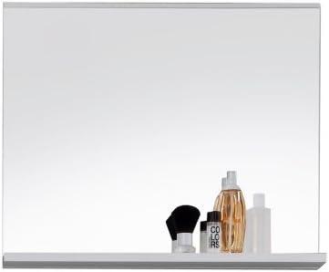 Trendteam 1280-401-01 Espejo para Baño Mezzo, 60 x 50 x 10 cm, en Blanco Decorativo