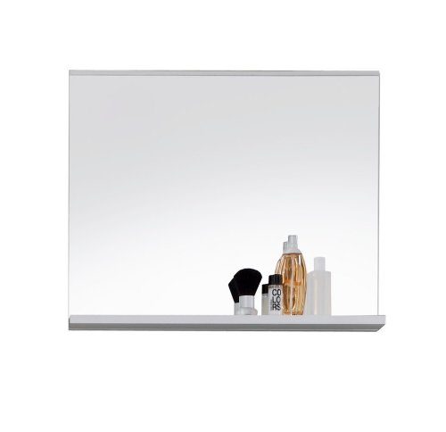 Badspiegel mit Ablage - Wandspiegel mit Ablage weiss