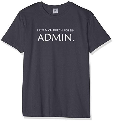Texlab Lasst Mich durch. Ich Bin Admin - Herren T-Shirt, Größe L, - Freaks Und Geeks Kostüm