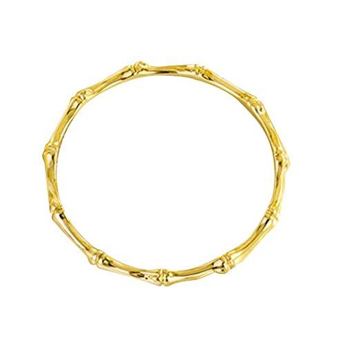 Minzhi Bambus-geformte Frauen-Mädchen-Slender-Armband-Armband-Silber überzogene Art und Weise Armband-Ketten-Stulpe-Schmucksachen (Handgelenk-stulpe-armband)