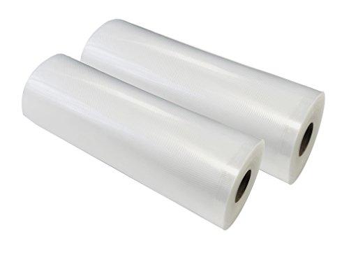 Vakuumfolie mit Struktur Profi-Qualität Vakuumbeutel Folienbeutel für alle Vakuumierer, Folienschweißgeräte, Vakuumiergerät - culivac Vakuumierfolie Professional, ideal für sous vide (2er Rollen, 20 cm x 600 cm)