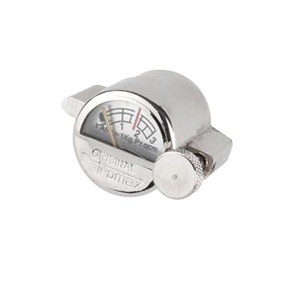 Manometer Füllschraubmanometer für Petromax 500 HK Lampe Gartenlampe in chrom