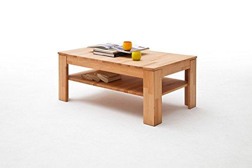 lifestyle4living Tisch, Couchtisch, Wohnzimmertisch, Salontisch, Kaffeetisch, Beistelltisch, Sofatisch, Telefontisch, Kernbuche, massiv, geölt