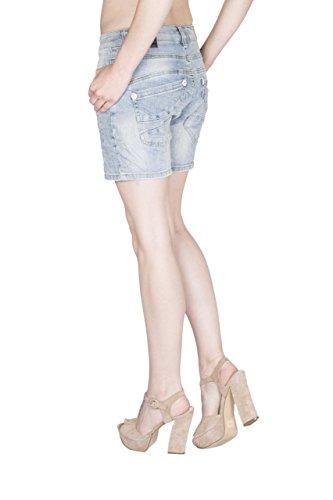 Blue Monkey Jeans -  Jeans  - Pantalone capri - Basic - Donna Blu