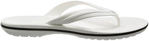 crocs Unisex-Erwachsene Crocband Flip Pantoffeln Weiß (White)