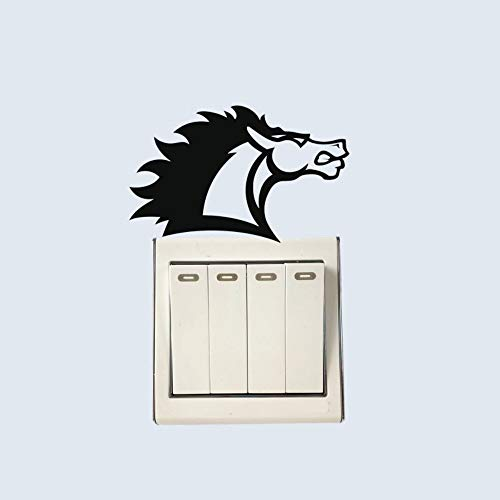os Wütend Tier Vinyl Einfache Wand Tier Aufkleber Dekor Cartoon Mode Schalter Aufkleber, Schwarz ()