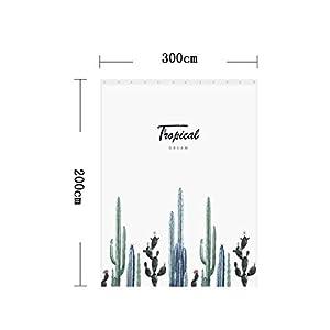 Shower Curtains Polyester-Gewebe Duschvorhang Mit Haken, Wasserdicht, Schimmel, Bad Duschvorhang, Heimtextilien, Bad-Accessoires, Eine Vielzahl Von Größen Zur Auswahl (Size : 200×300cm)