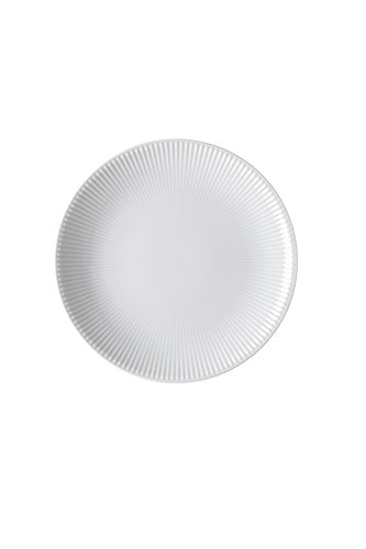Blend White Assiette plate 21 cm Relief 1 verticale