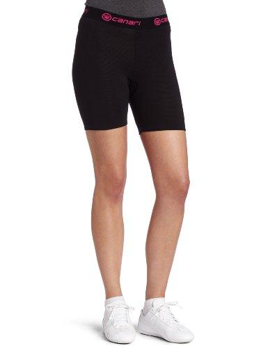 Canari Cyclewear Frauen-Gel-Zyklus Liner Padded Radfahren Kurz (Schwarz, Medium) (Kurze Liner Hose)