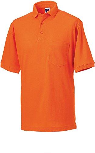 Strapazierfähiges Piqué Arbeits-Poloshirt , Farbe:Orange;Größe:XL