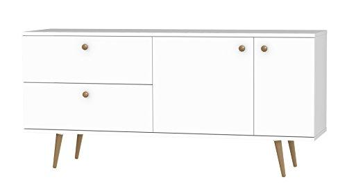Tenzo 1114-001 Haze Designer Sideboard, 75 x 160 x 43 cm, weiß / eiche